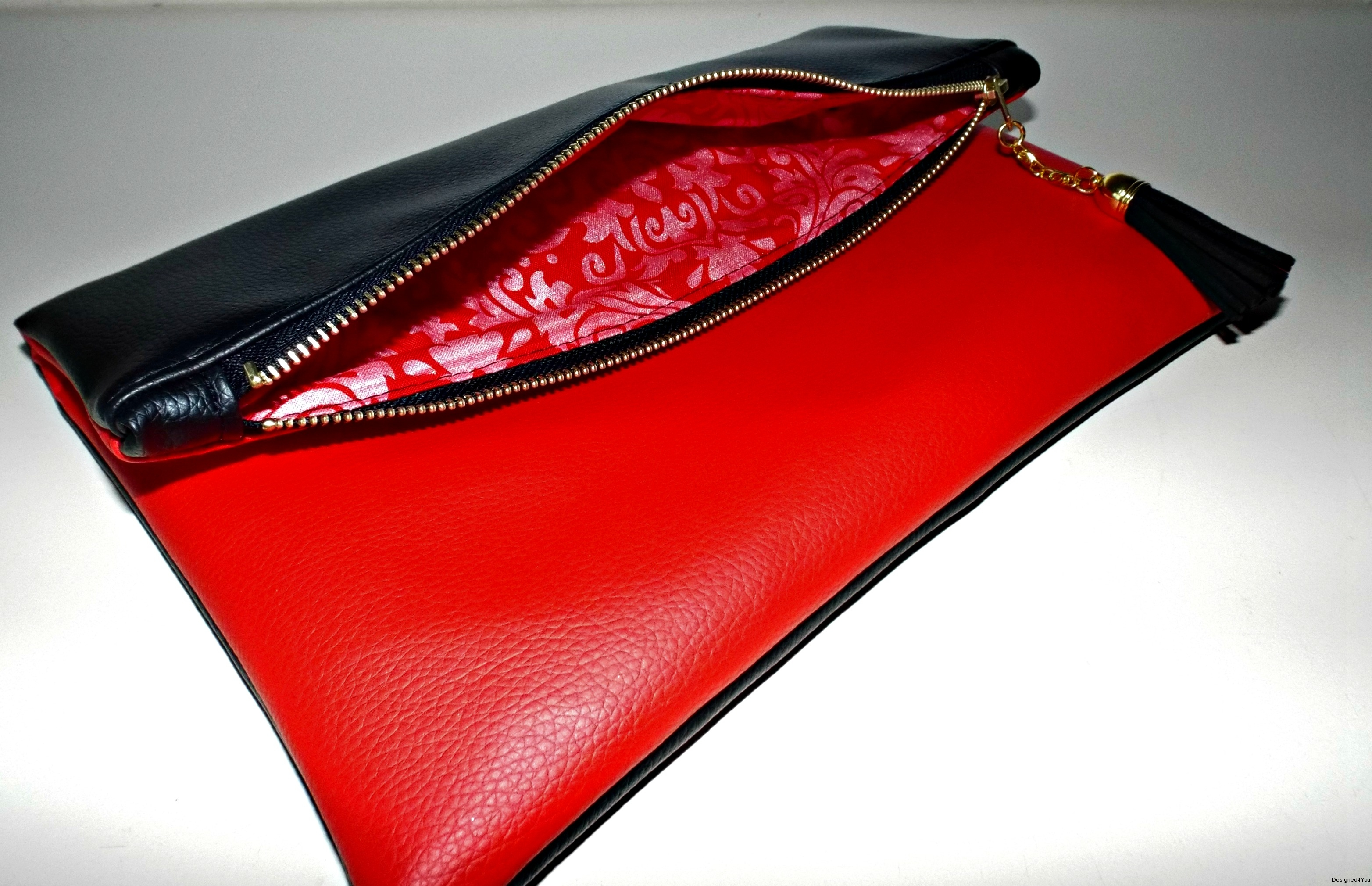 Oversized zipper clutch