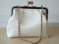 Ivory Satin Handmade bridal clutch vintage frame ireland