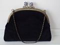 Vintage 1920s purse custom made black velvet
