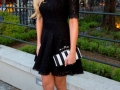 Rosanna Davison with Gothica Monochrome clutch bag