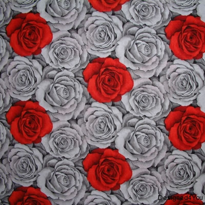 Grey Rose with small red-onsite