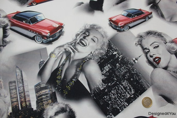 Marilyn Red Car - Fabric