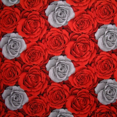 Red Rose with small grey-onsite