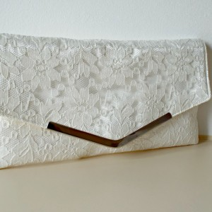 Bella Bridal Lace Handmade Wedding Clutch