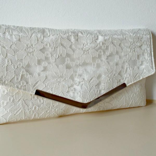 Bella Bridal Lace Handmade Wedding Clutch