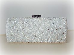 Bridal Sophia-Pearl & Rhinestone Handmade Clutch