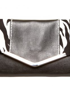 Crystal Bella Handmade Faux Leather Clutch - Ireland