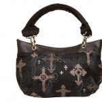 Destiny Handbag, Irish - Handmade to Order - Ornate Crosses Fabric Ireland
