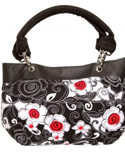 Destiny Handbag, Irish – Handmade to Order – Poppy Flower Fabric