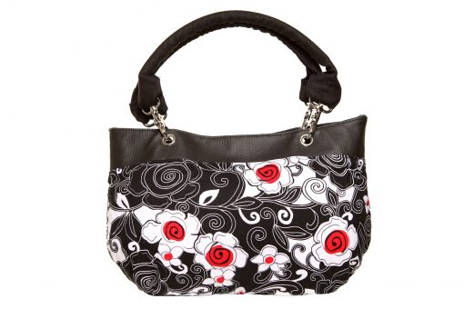 Destiny Handbag, Irish - Handmade to Order - Poppy Flower Fabric