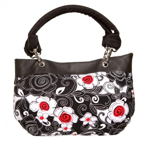 Destiny Handbag, Irish - Handmade to Order - Poppy Flower Fabric
