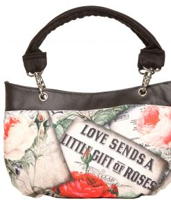 Destiny Handbag, Irish – Handmade to Order – Vintage Rose Fabric