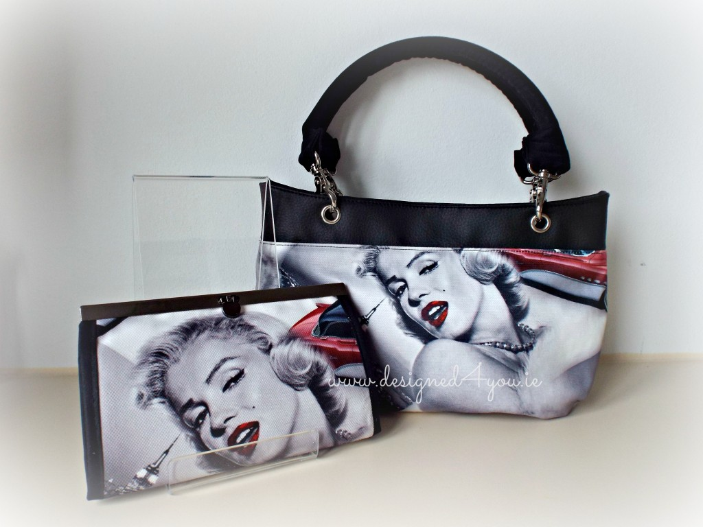 Destiny Handmade Handbag with Audrey Hepburn Fabric