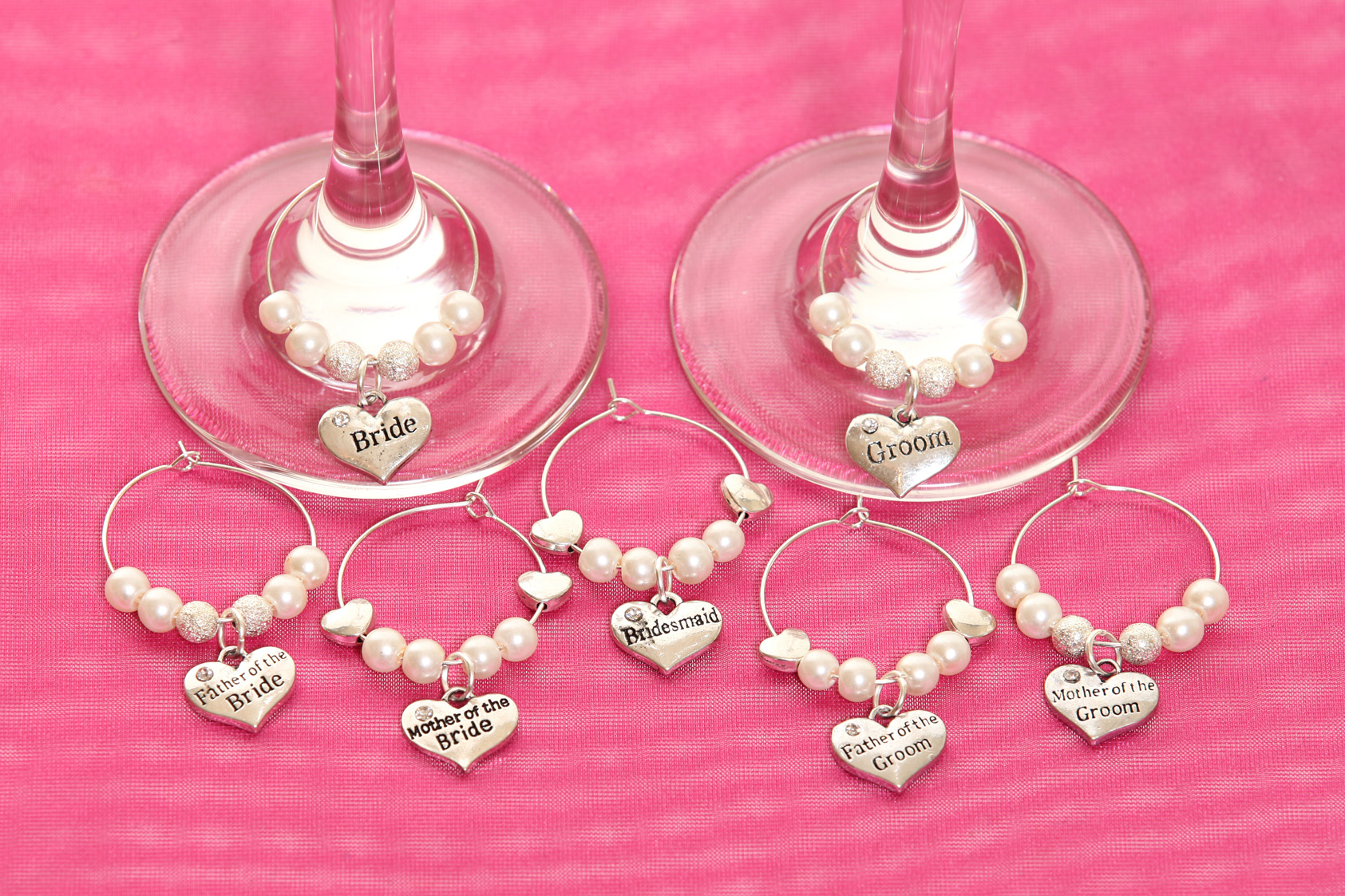 Wine glass charms, personalised for all occasions
