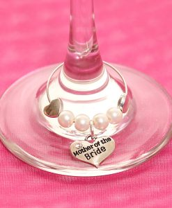 Mother of the Bride glass charm