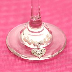 Father of the Bride wine glass charm, wedding top table