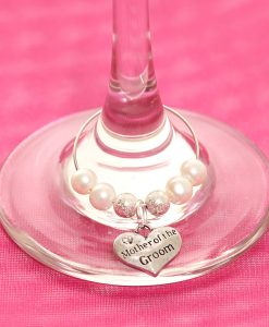 Mother of the Groom Wedding wine glass charm