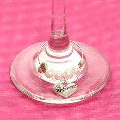 Bridesmaid wedding wine glass charm ireland