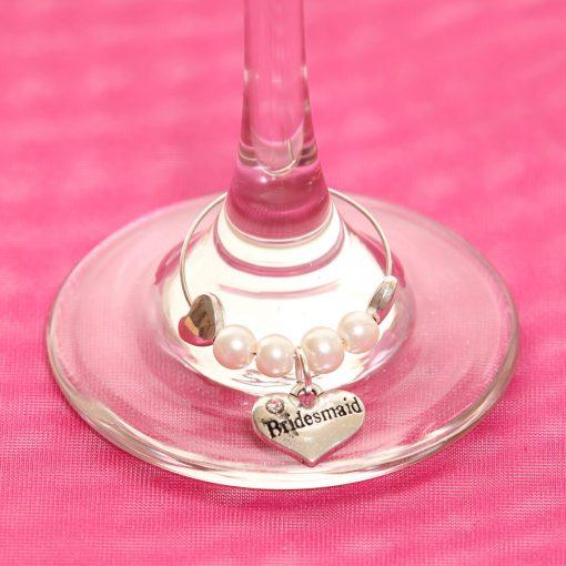 Bridesmaid wedding wine glass charm ireland
