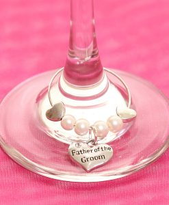 Father of the Groom wedding wine glass charm