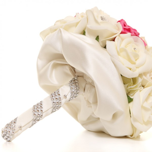 Bridal Heirloom Bouquet Brooches & Roses Ivory