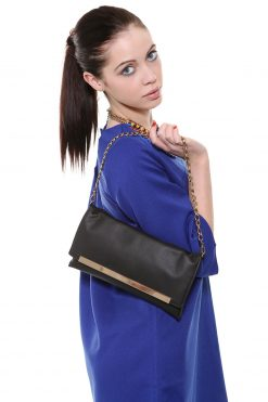 Eva Leather Clutch Handmade in Ireland