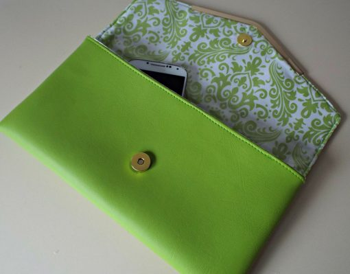 Lime Bella Clutch Bag