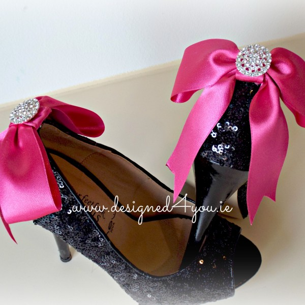 Handmade sweet bow shoe clips