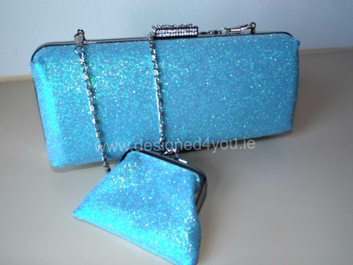 Sophia Glitter clutch - matching purse