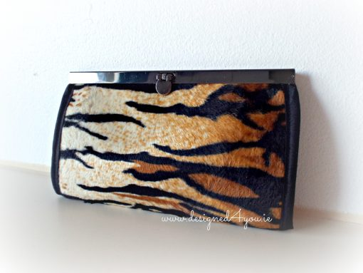 Wallet Tiger print handmade in Ireland