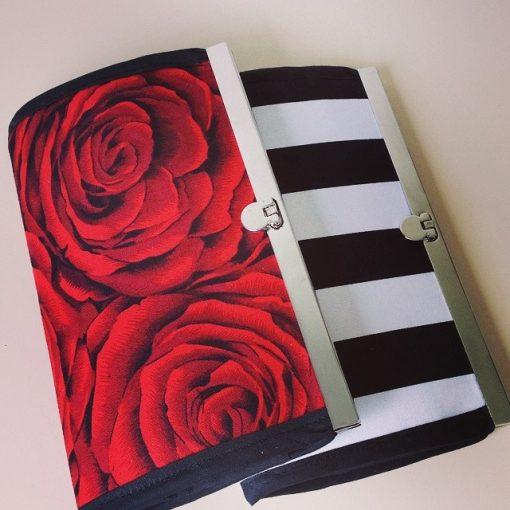 Red Rose & Monochrome Wallets Accessories Handmade