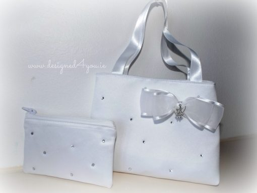 Flower girl or Communion bag purse set