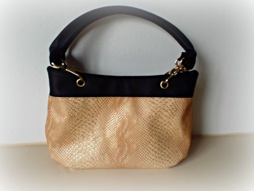 Destiny handmade handbag nude leather