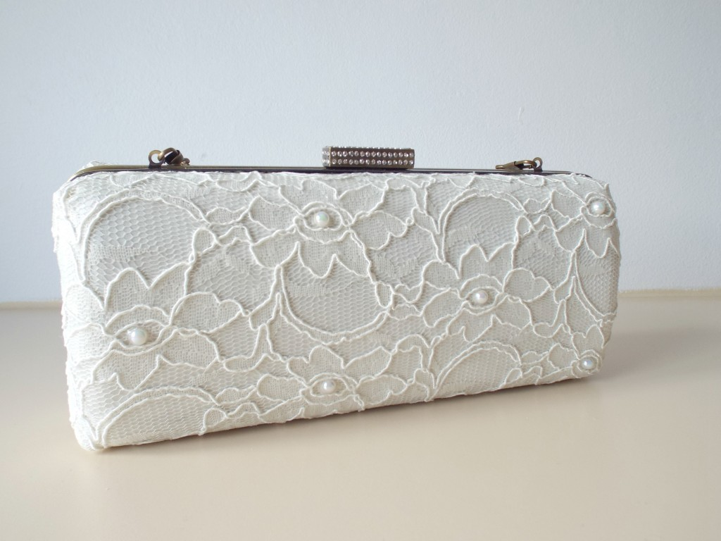 Bridal handmade Sophia Lace Clutch for your wedding day