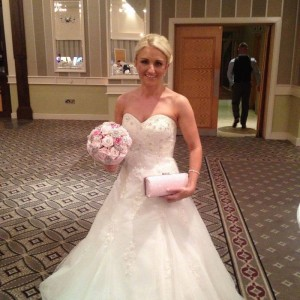 Bridal heirloom bouquet with matching bag