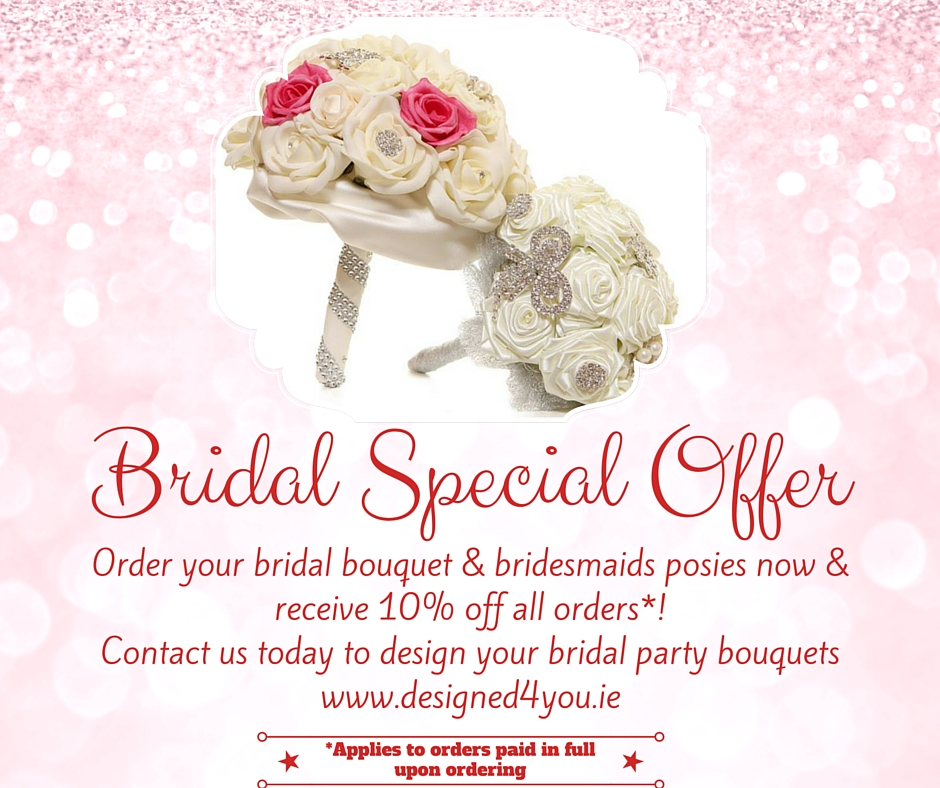 Bridal brooch heirloom bouquet and bridesmaid posies special offer