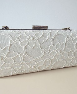 Ivory lace bridal clutch bag for sale