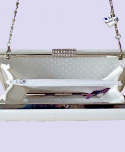 Personalised Ivory bridal clutch ireland