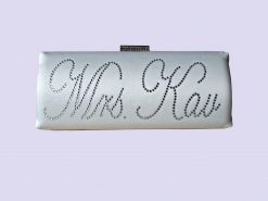 Personalised bridal bag ivory