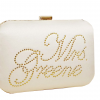 Personalised Ivory Bridal Clutch Bag Ireland