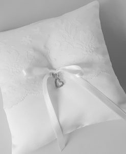 Wedding Ring Cushion, White, Ivory or Cream available