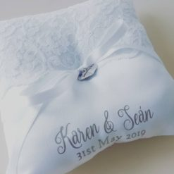 Personalised wedding ring pillow