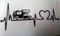 Car decal motorhome heartbeat