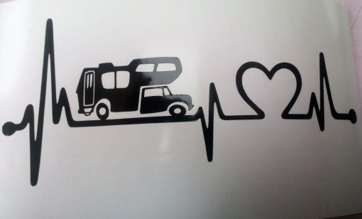 Car decal motorhome heartbeat