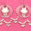 Wine Glass Charms personalised wedding Ireland