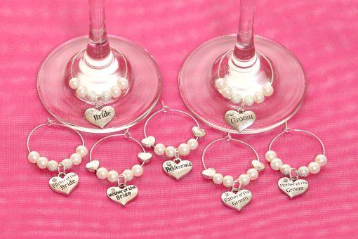 Wine Glass Charms personalised wedding Ireland