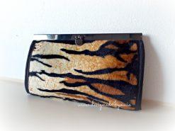 Wallet Tiger print handmade in Ireland