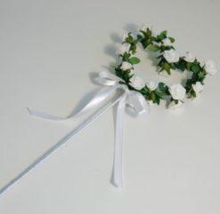 White flower girl wand ireland