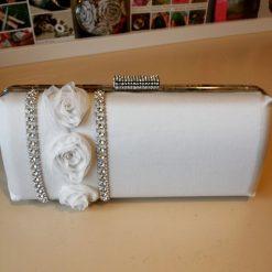 bridal clutch ivory