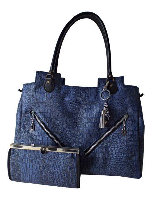 Crocodile print bag with matching wallet in Ireland